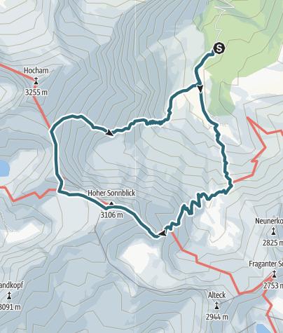 Karte / Hoher Sonnblick - Goldzechkopf, Rauris