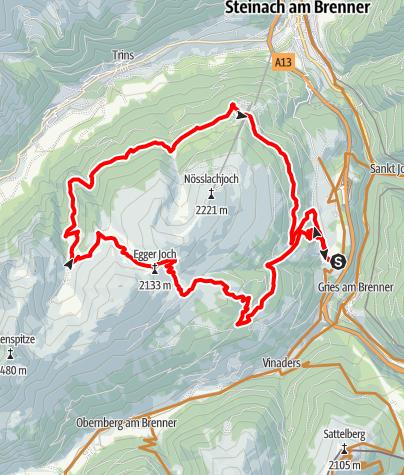 Karte / Rund ums Nößlachjoch