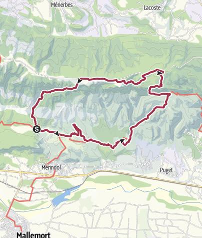 Map / Foret des Cèdres par mérindol