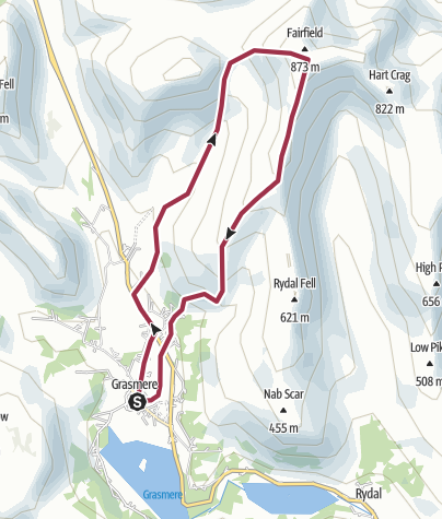 Map / Grasmere hike 4