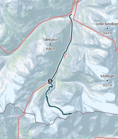 Karte / Hintere Schwärze (3.624 m) - Stolzer Gipfel der Ötztaler