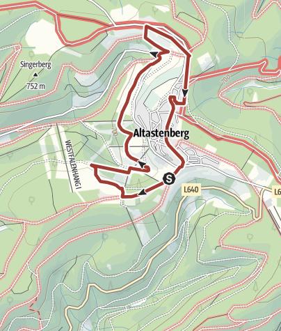 Karte / Bergwiesenpfad Altastenberg, Start und Ziel in Winterberg-Altastenberg