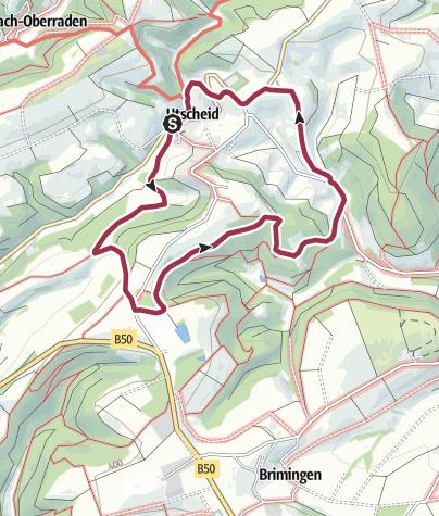 Karte / Naturpark Südeifel Wanderweg 82  Utscheid