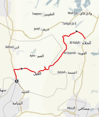 Carte / Wadi Sidr, Feb 9, 2016