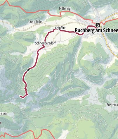 Karte / Wanderung von Puchberg zur Haltestelle Baumgartner