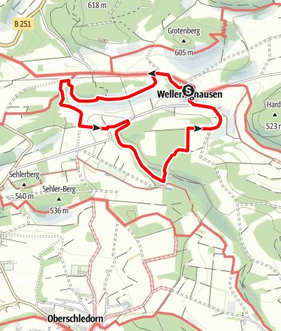 Karte / Geschichtspfad Welleringhausen (Qualitätstour)