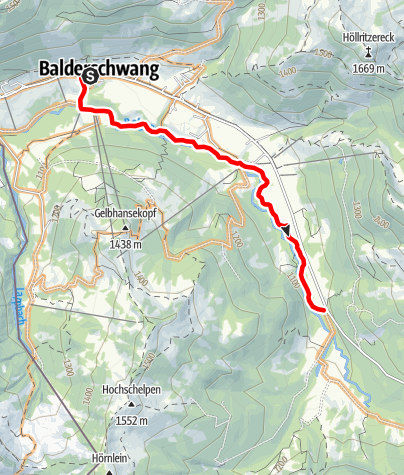 Karte / Radtour Balderschwang: über Max-Theo Weg entlang der Bolgenach