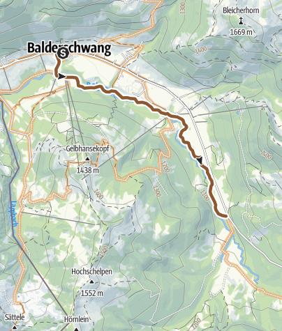 Map / Radtour Balderschwang: über Max-Theo Weg entlang der Bolgenach