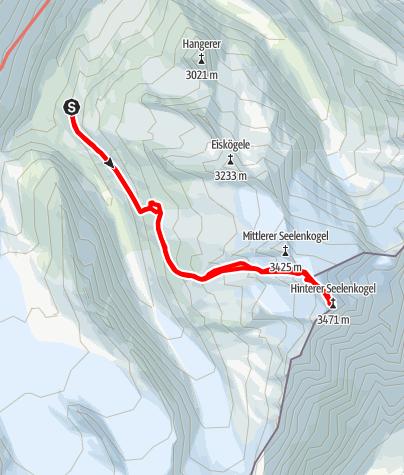 Karte / Hinterer Seelenkogel von der Langtalereckhütte
