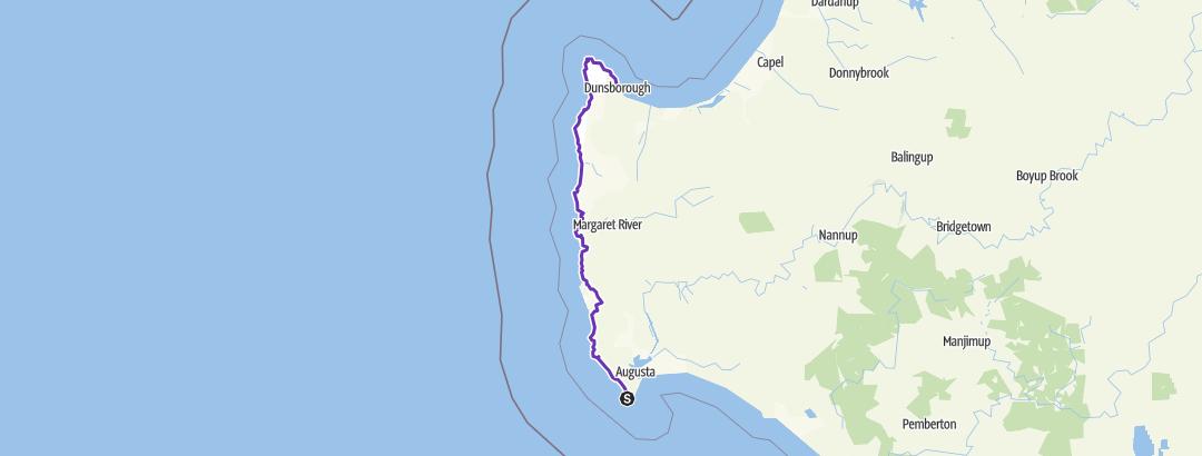 Kartta / Cape to Cape