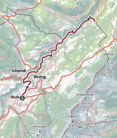 Karte / Breitachklamm