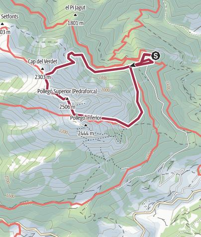 Karte / Pedraforca (2.506m)