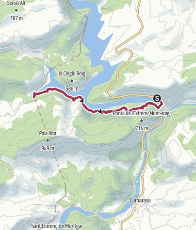 Karte / De la presa de Camarasa - Vilanova Sal