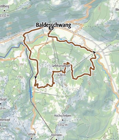 Karte / Radtour Balderschwang - Bergwacht-Hütte