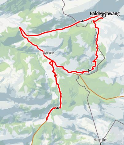 Karte / Radtour Balderschwang - Schönenbach