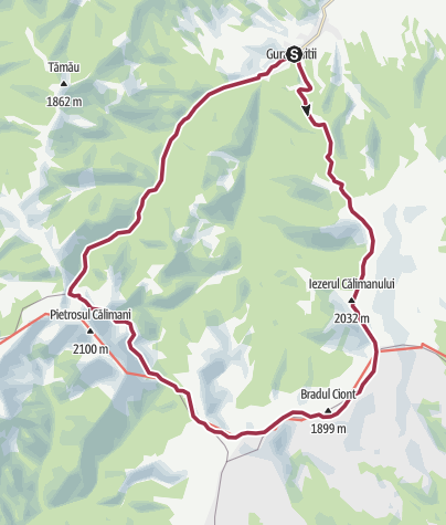 Map / Tura Calimani 34km