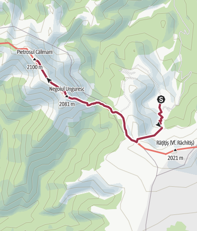 Map / Vf.  Pietrosul (Calimani)