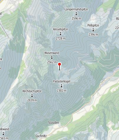 Karte / Padasterjochhaus 2.232 m
