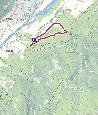 Cartina / Passeggiata alle Cascatelle di Ziano di Fiemme