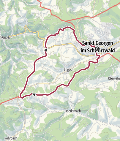 Karte / ParadiesTour St. Georgener Heimatpfad