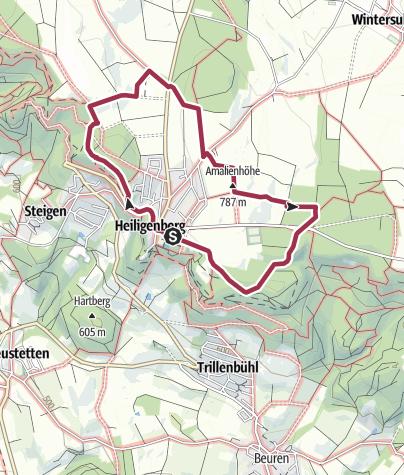 Karte / Heiligenberger Panoramaweg (kleine Runde 6,4 km)