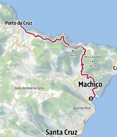 Map / Machico to Porta da Cruz