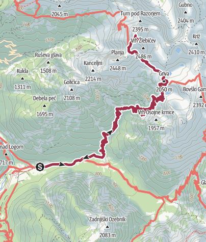 Map / From Trenta to Razor