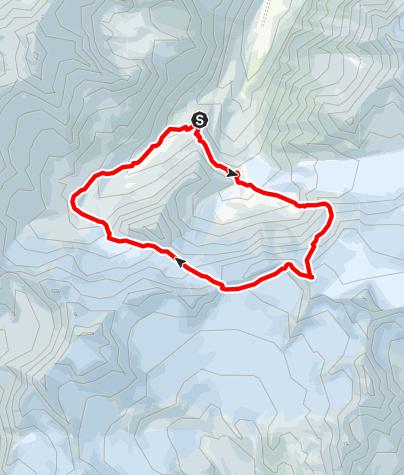 Karte / Petersenspitze (3484 m) - Nordflanke vom Taschachhaus