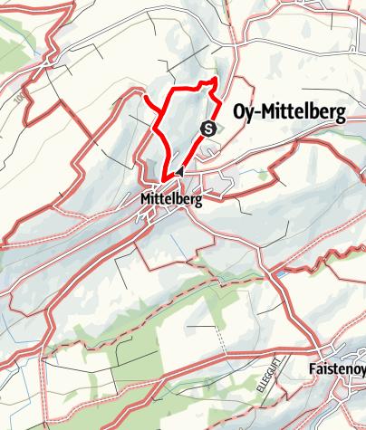 Karte / Über den Wiesenweg zur Wanderbank Allgäu am Panoramaweg in Mittelberg