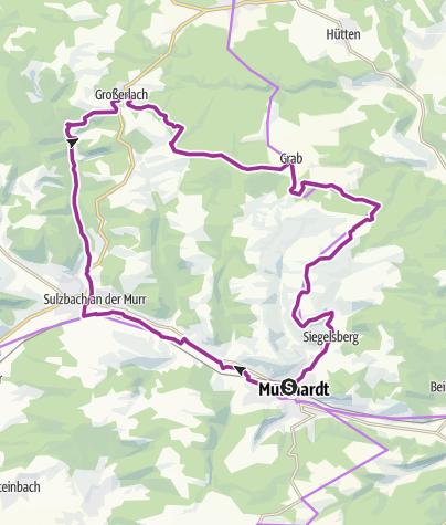 """Karte / """"Räuber, Römer und Naturpark"""