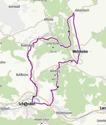 """Karte / """"Daimler, Dampfbahn und Champagnerluft"""""""