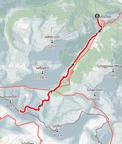 Karte / Das Wahrzeichen des Montafons - die Drei Türme