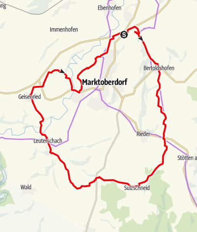 Karte / Oberdorfer Radlrunde