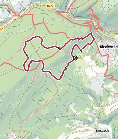 """Karte / Nationalpark-Traumschleife """"Kirschweiler Festung"""""""