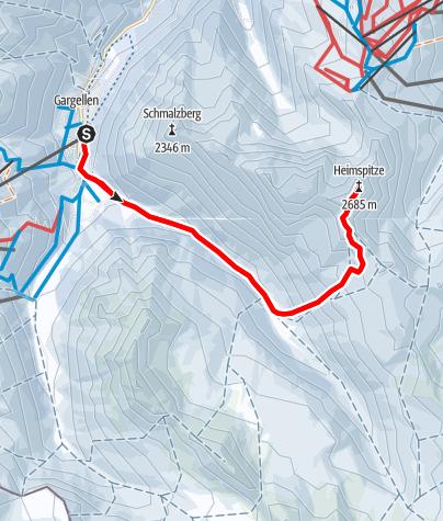 Karte / Skitour auf die Heimspitze (2.685 m)