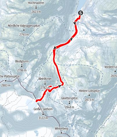 Karte / Skitour Seelücke