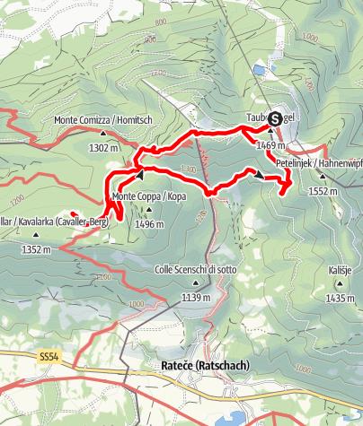 Karte / Wandern am Dreiländereck - Drei-Länder-Wanderung um das Dreiländereck