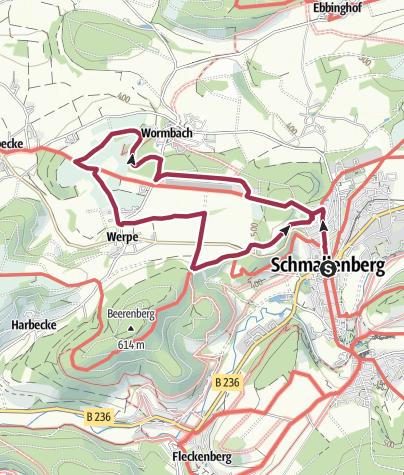 Karte / Tourenvorschlag- Durch das Hawerland