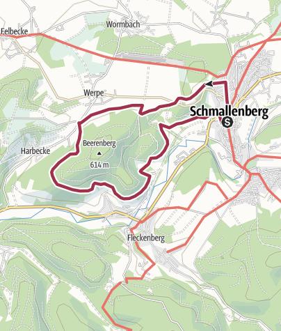 Karte / Rund um den Beerenberg
