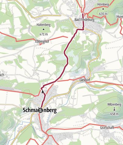 Karte / Tourenvorschlag- Von Schmallenberg über die Robbecke bis nach Bad Fredeburg