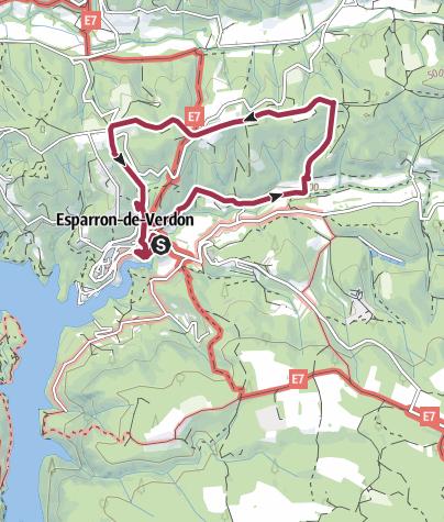 Map / Autour de la Colle, Esparron-de-Verdon