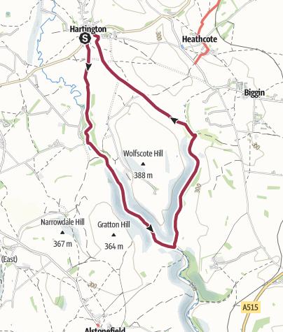 Mapa / Hartington Dales Walk