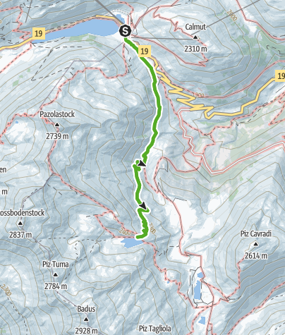 Map / To the Rhine source: Oberalp Pass – Lake Toma