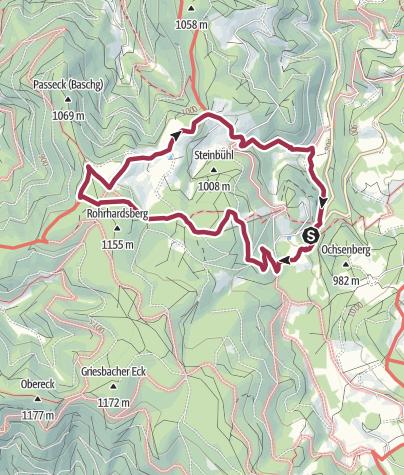 Karte / Genießerpfad U(h)rwaldpfad Rohrhardsberg
