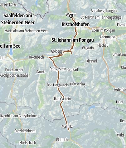 Mapa / Werfen Mallnitz 4 lug 2015