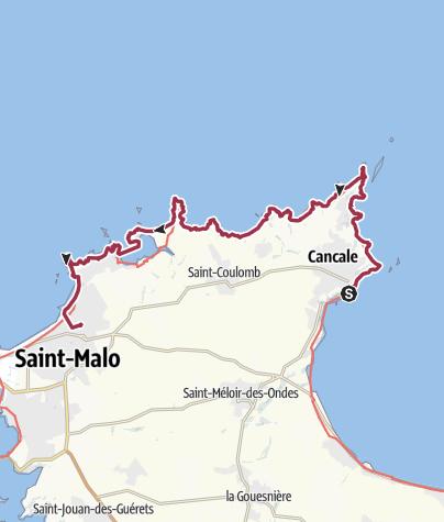 Map / Cancale-Paramé par la cote!