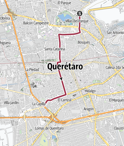 Map / Ruta 13 A - camiones Qro