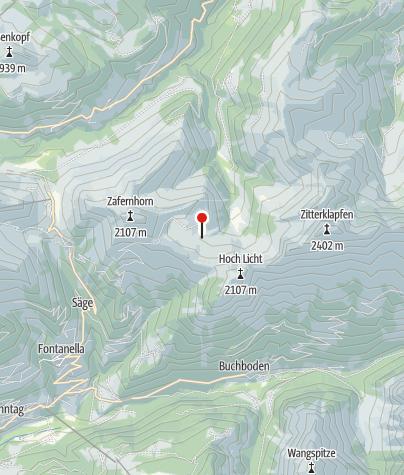 Karte / Zafernalpe 1702 m