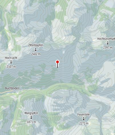 Karte / Kasparsalpe 1695 m