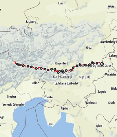 Karte / Weitwanderweg 03 - Südalpenweg